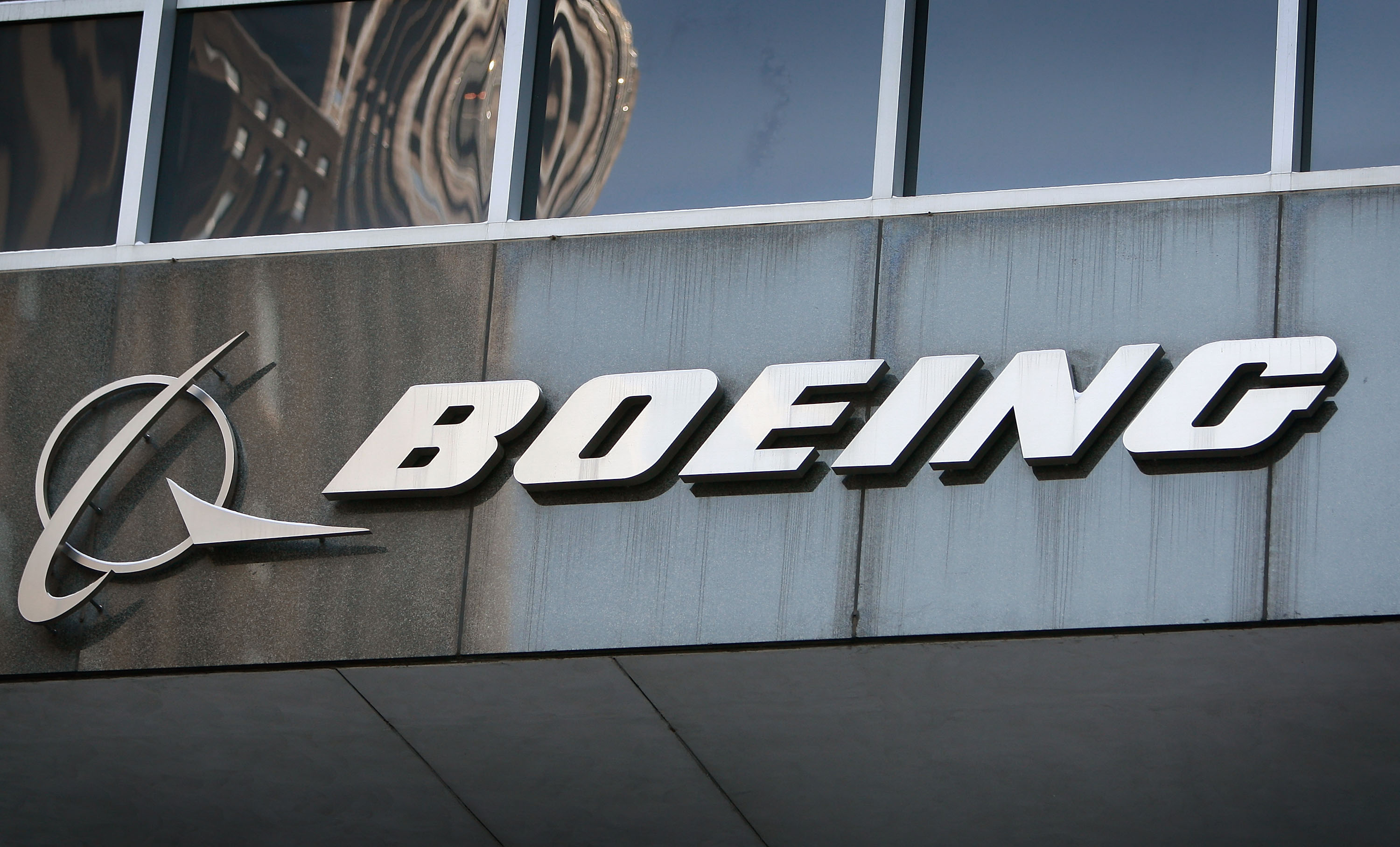 Boeing's logo on display in Chicago this file photo from 2009.