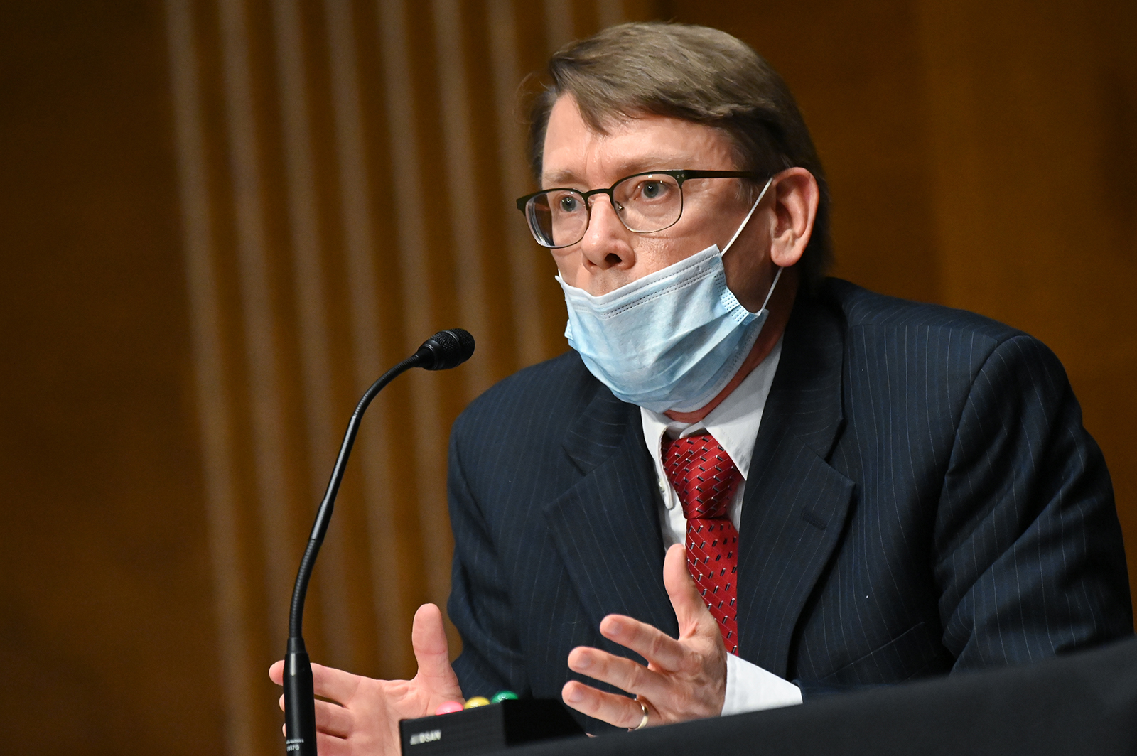 Dr. Jeffrey D. Allen, medical director of the Federal Bureau of Prisons, testifies at a hearing of the Judiciary Committee on Capitol Hill in Washington, on June 2.