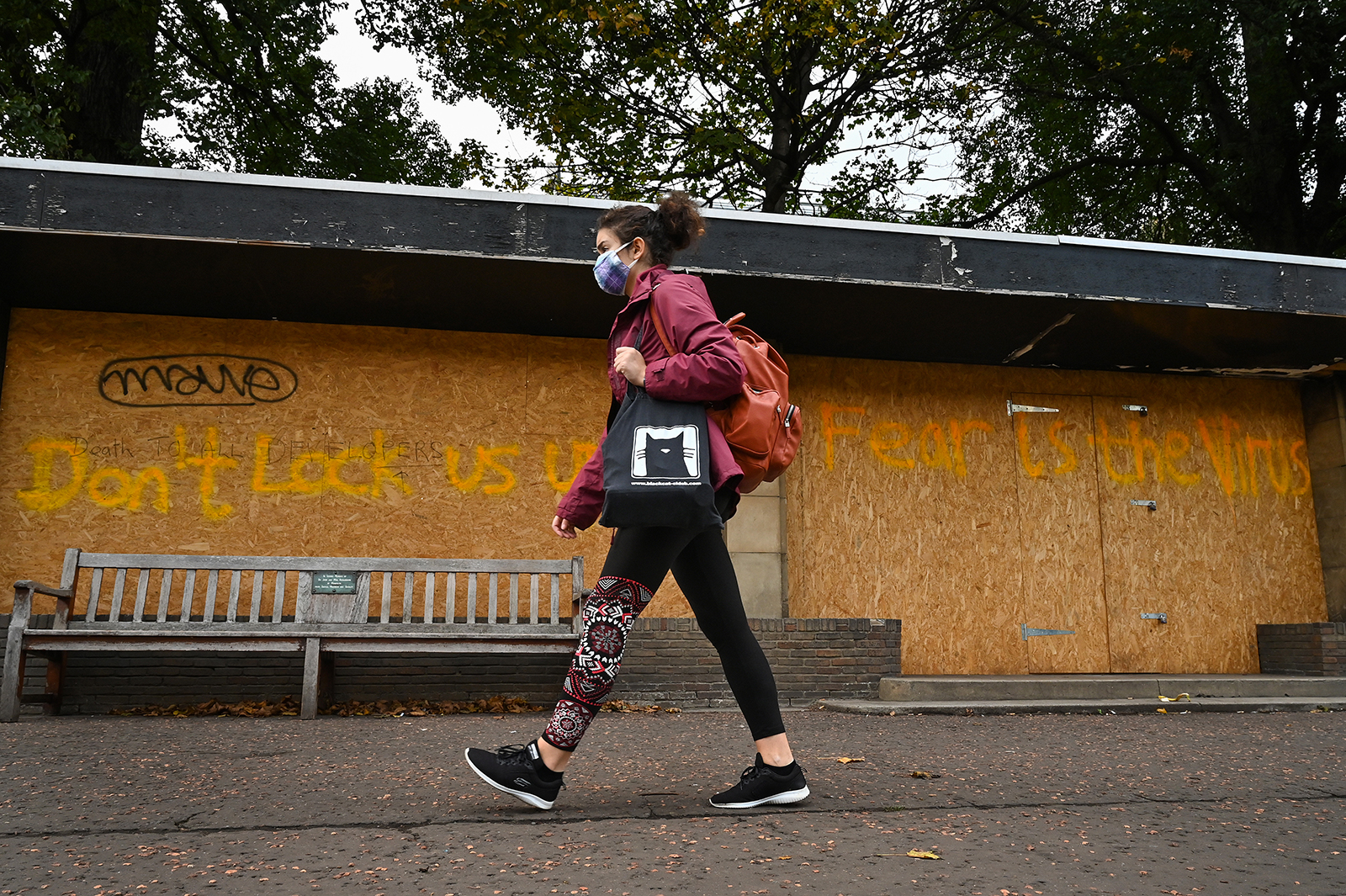 Members of the public are seen on Princess Street on October 21, in Edinburgh, Scotland.