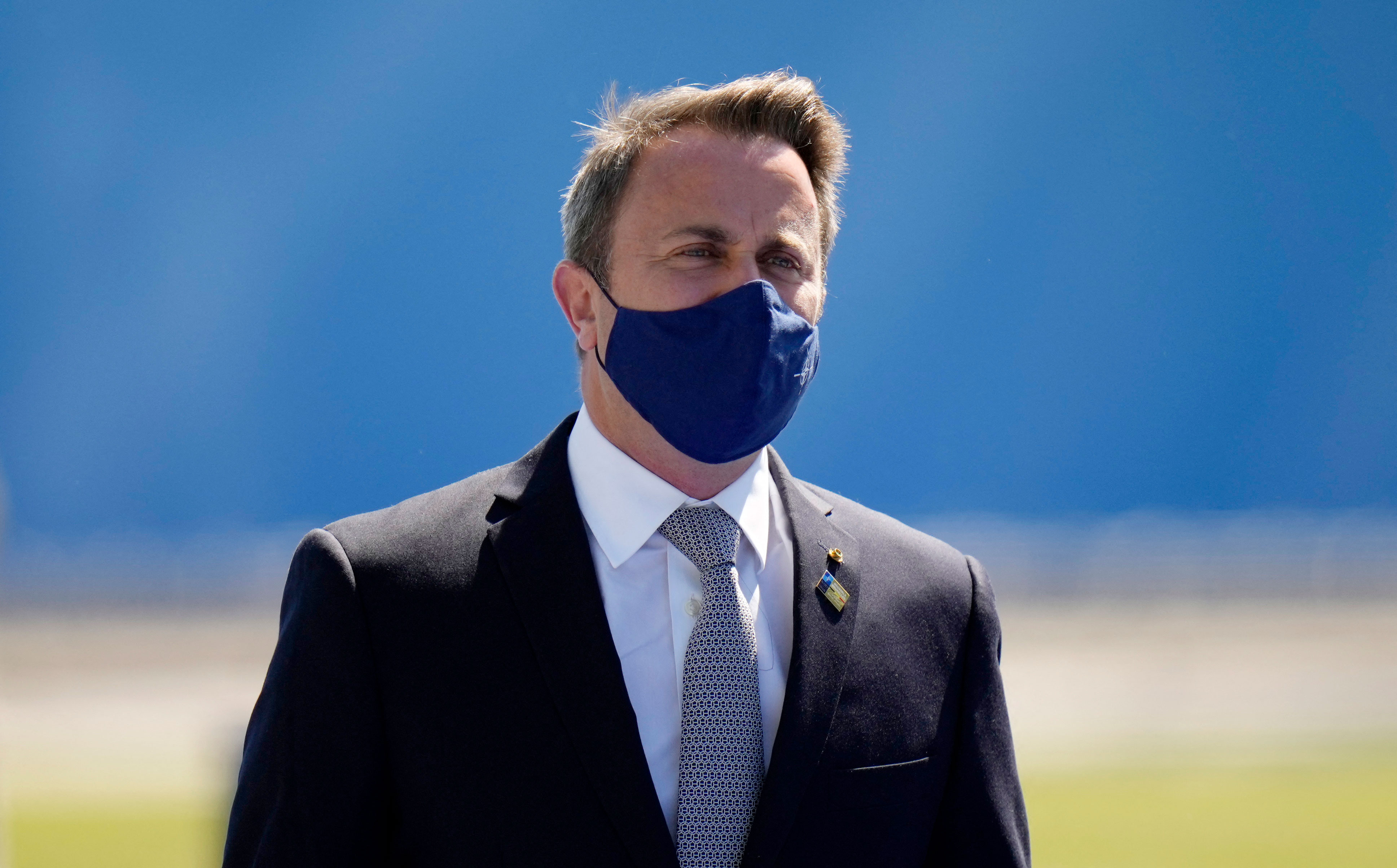 Luxembourg's Prime Minister Xavier Bettel arrives for the NATO summit in Brussels, Belgium, on June 14.