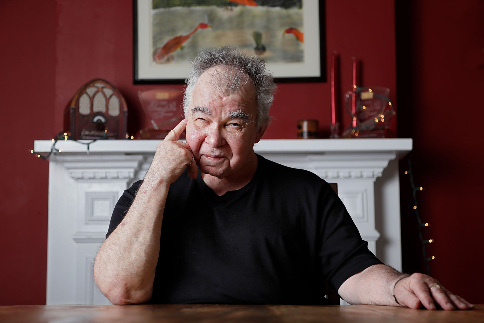 John Prine pictured in his office in Nashville on June 20, 2017.