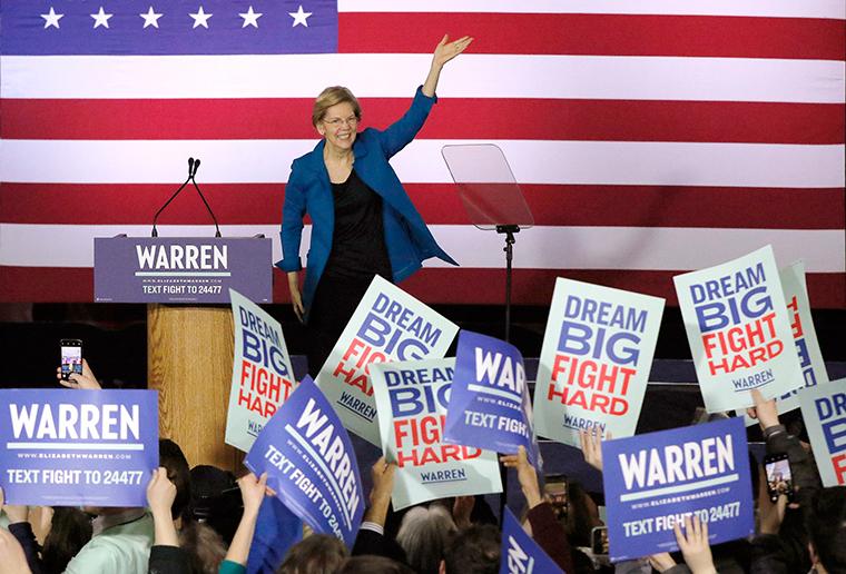 Presidential Election 2020 Toddler//Kids Sweatshirt Warren for President Star Banner