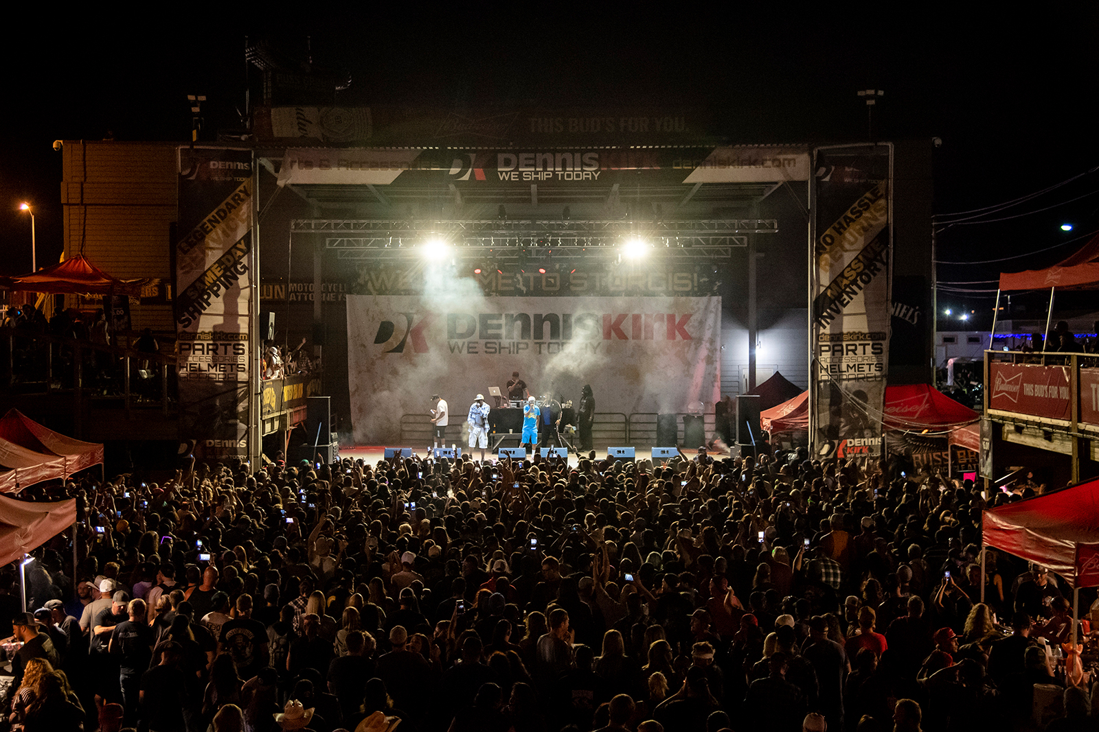 Bone Thugs-n-Harmony performs at the Iron Horse Saloon during the 80th annual Sturgis Motorcycle Rally on Saturday, August 15, in Sturgis, South Dakota.
