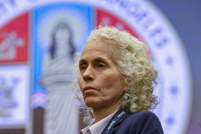 In this March, 12, 2020, file photo, Los Angeles County Public Health Director Barbara Ferrer takes questions at a news conference in Los Angeles.