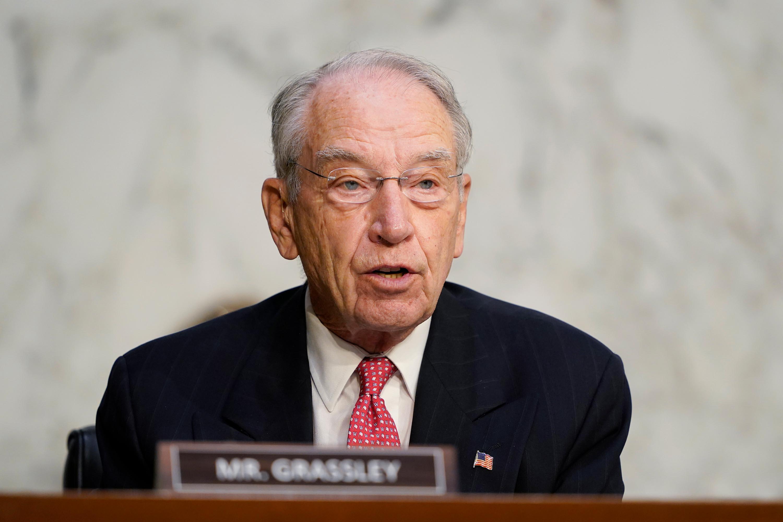 Sen. Chuck Grassley speaks on Capitol Hill on October 14 in Washington, DC.