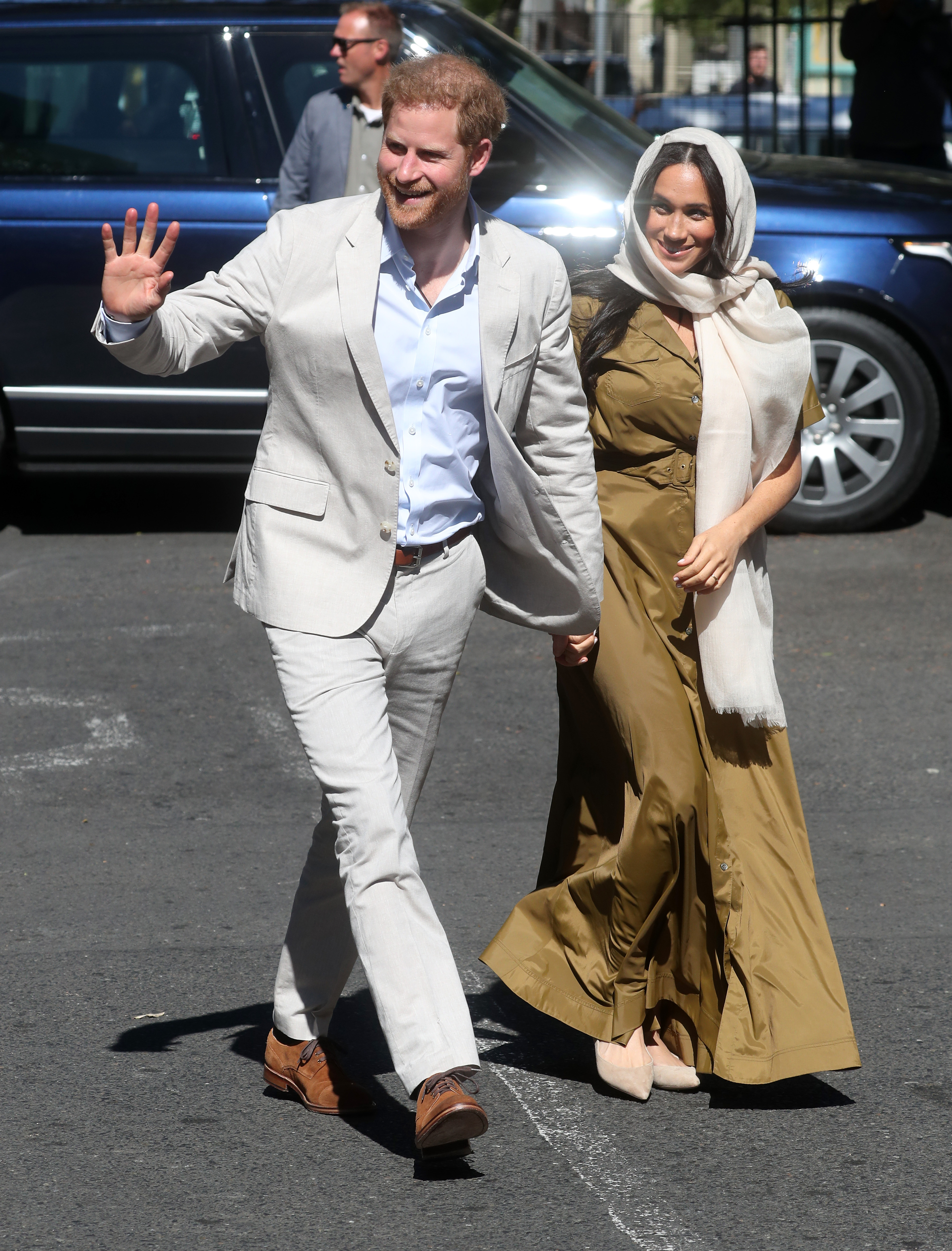Prince Harry, Duke of Sussex and Meghan, Duchess of Sussex visit Cape Town's Auwal Mosque during their royal tour of South Africa.