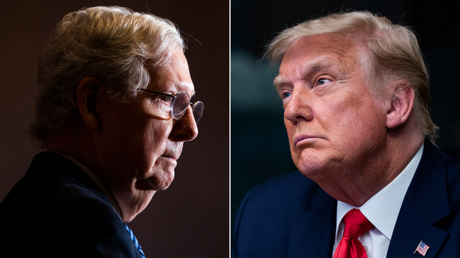 Sen. Mitch McConnell and President Donald Trump.