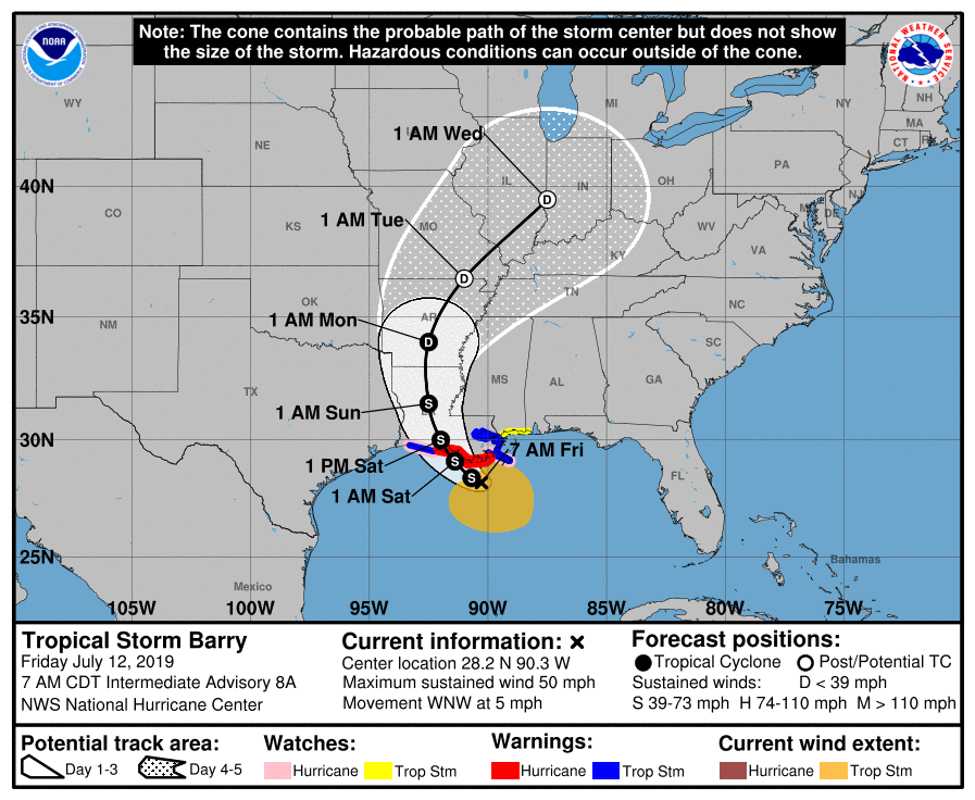AMC Closing New Orleans & Baton Rouge Theaters As Tropical Storm Barry Approaches