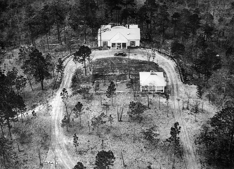"The ""Little White House"" is seen onApril 13, 1945, where the US President Franklin D. Roosevelt died on the afternoon of April 12, 1945 at Warm Springs in Georgia."
