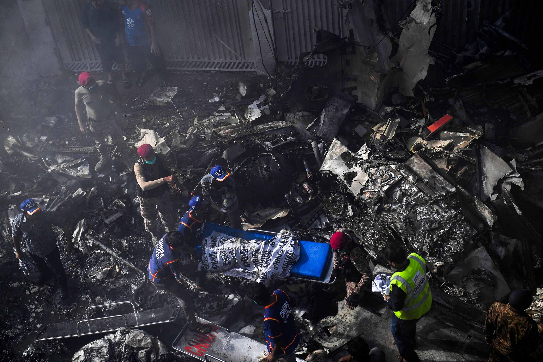 Karachi Crash Pakistani Airliner Crashes With Over 100 On Board