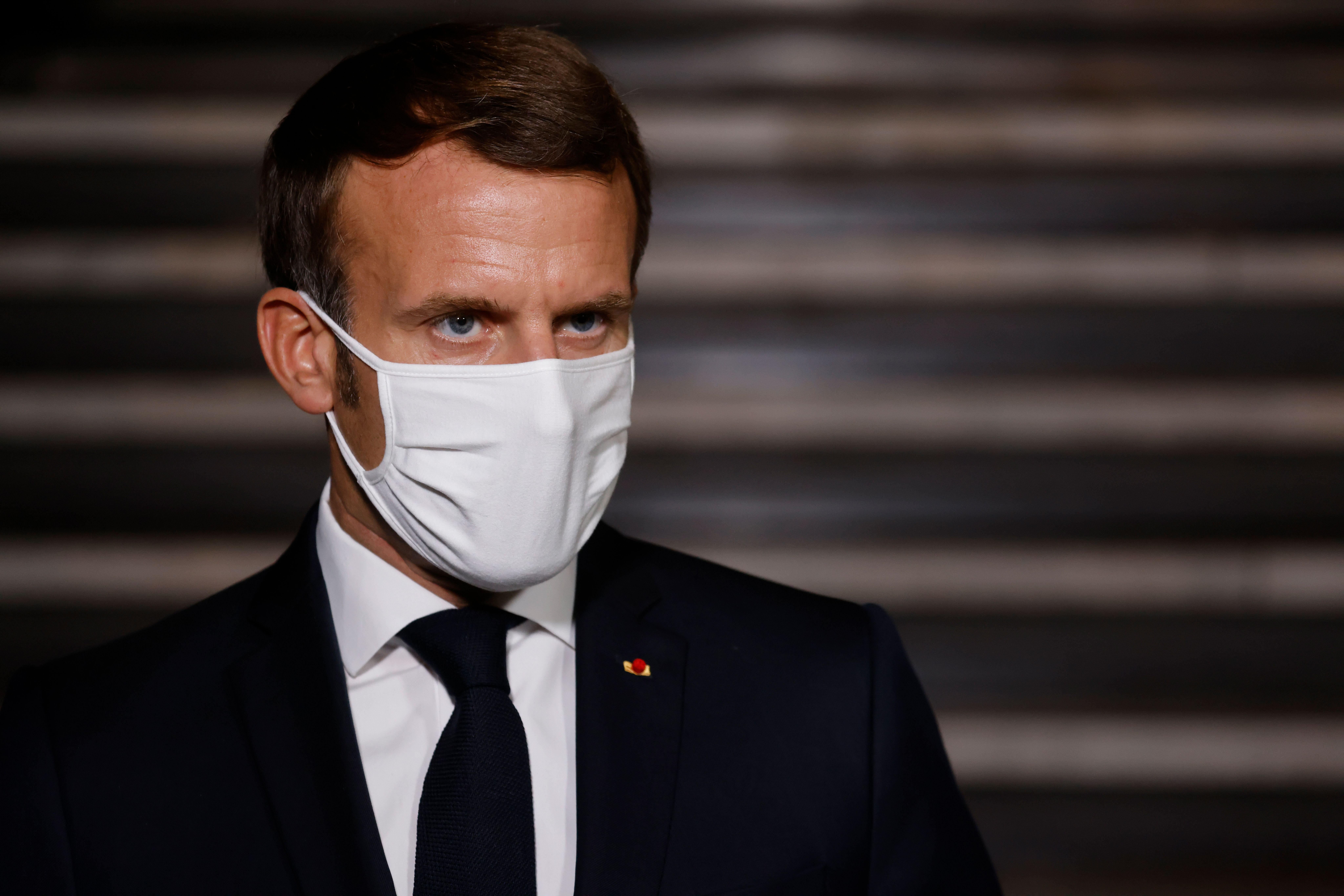 French President Emmanuel Macron on October 20, 2020.
