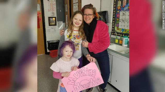 Teacher Sarah Backstrom, right, said she'd love for her daughters Josephine ten, and Vivienne, four, to have in-person classes, but doesn't think it's safe.