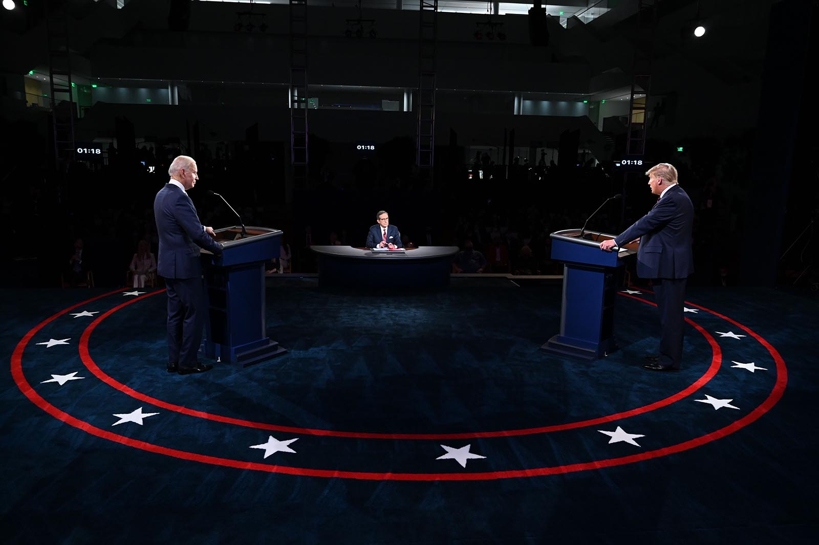 President Donald Trump and Democratic presidential candidate Joe Biden take part in the first presidential debate at Case Western Reserve University and Cleveland Clinic in Cleveland, Ohio, on September 29.