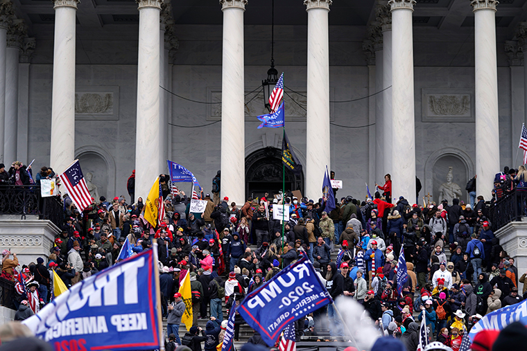 Rioters at the Capitol in Washington D.C on Jan. 6, 2021.