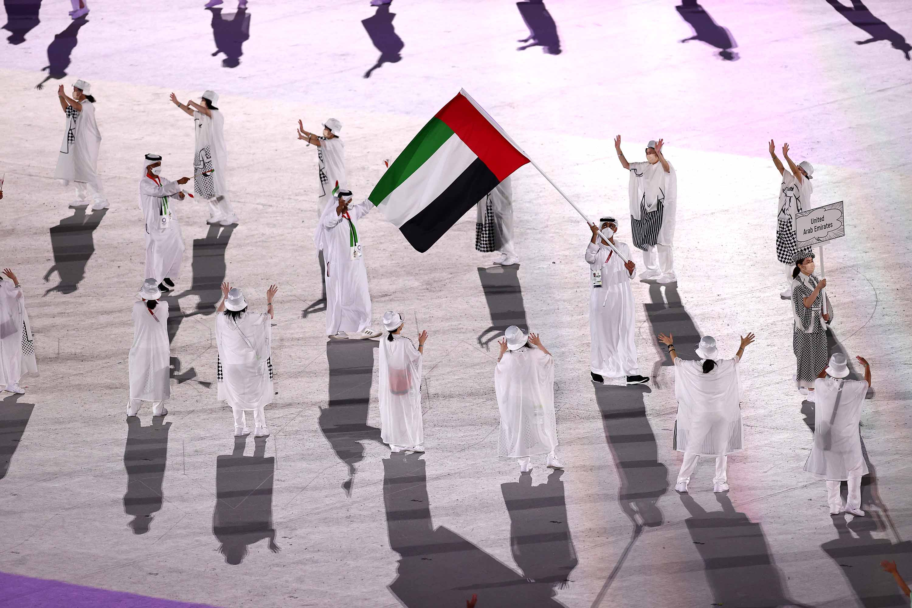 Team United Arab Emirates is seen during the Opening Ceremony.