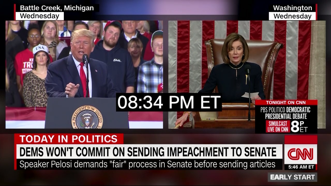 The exact moment Trump was impeached.