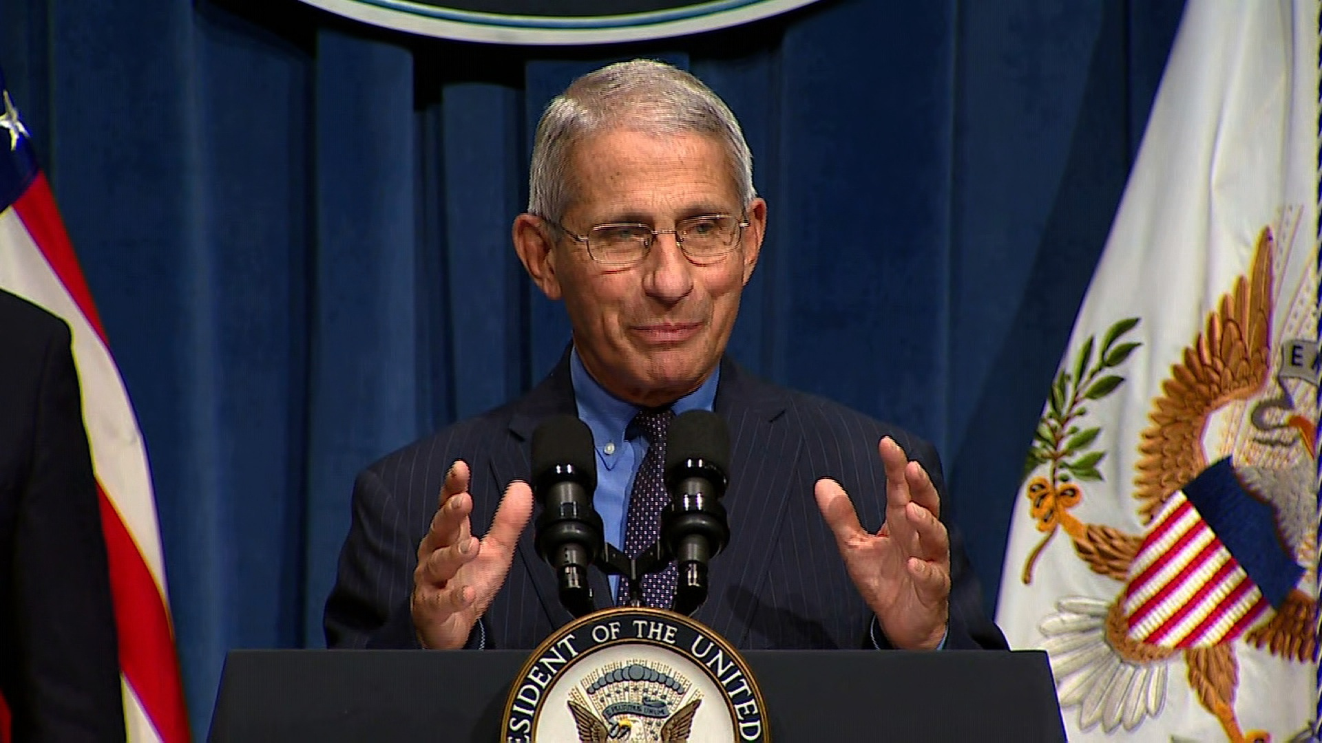 Dr. Anthony Fauci, the nation's top infectious disease expert, speaks at a coronavirus task force briefing in Washington, DC, on June 26.