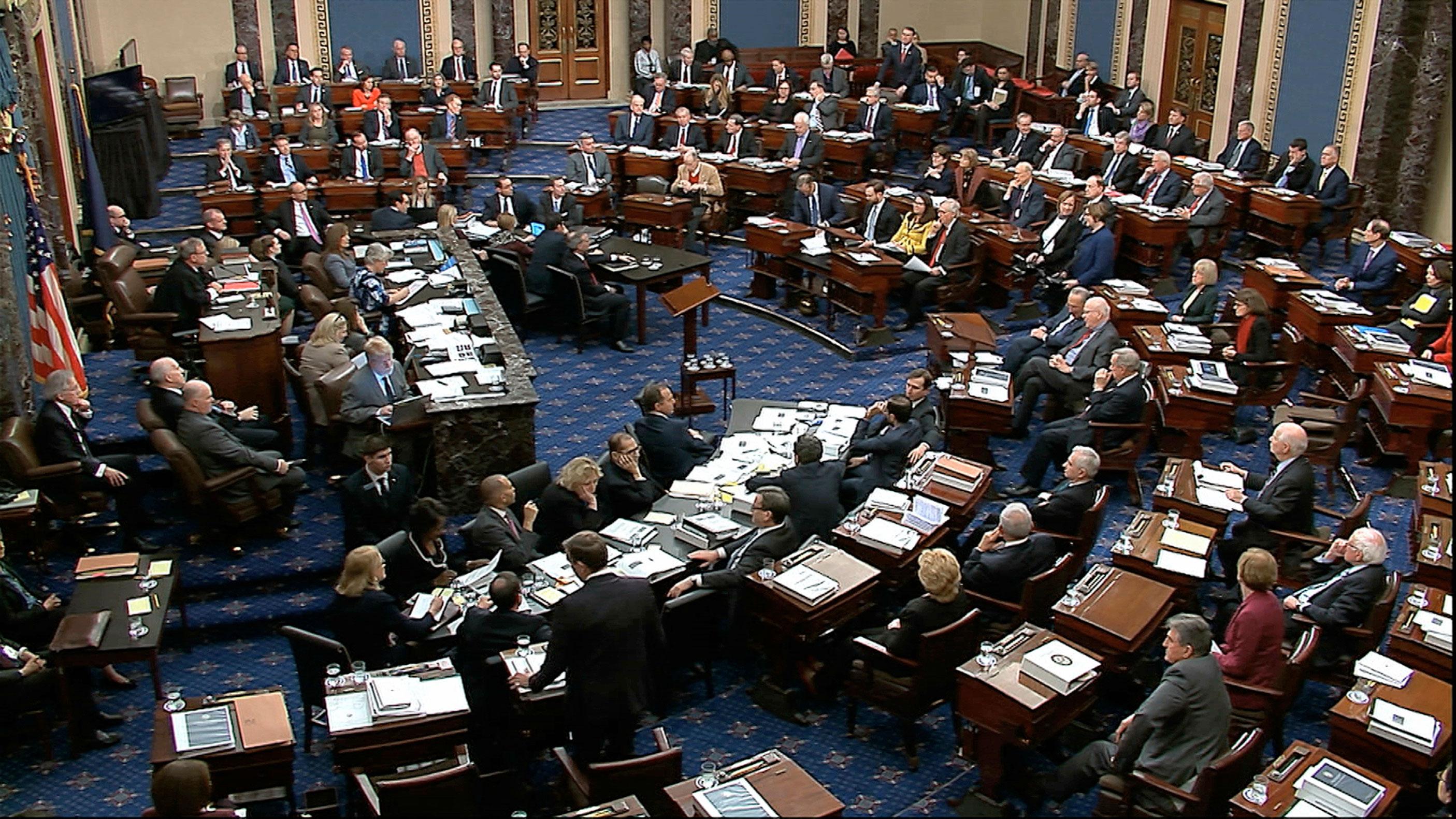 Senate Television via AP