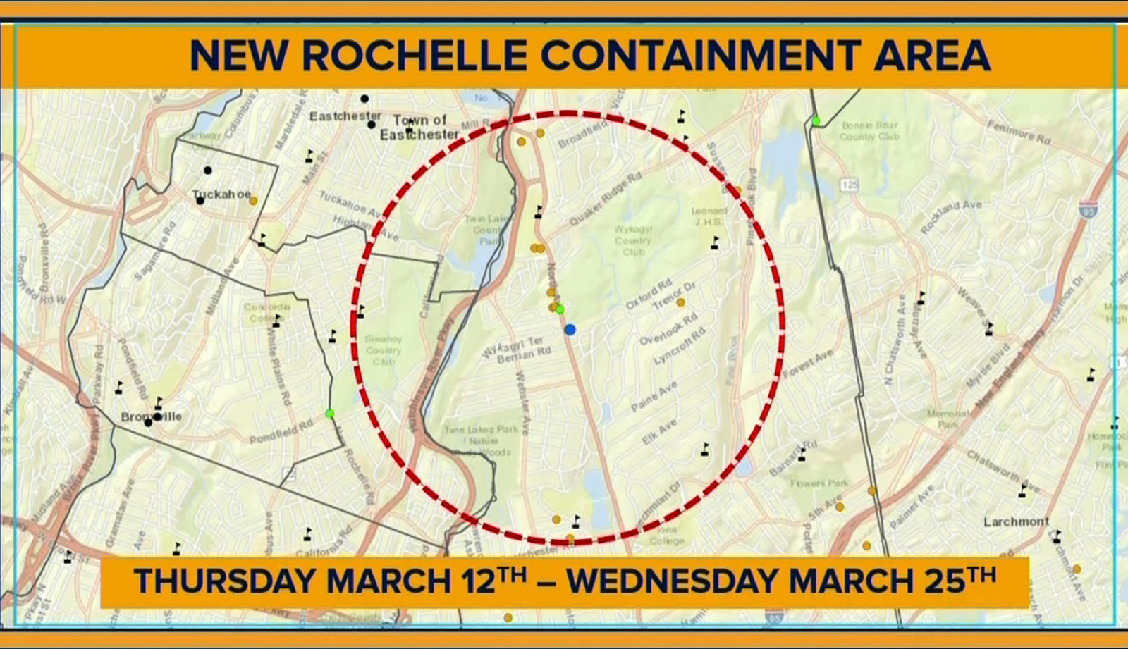 Schools And Facilities Will Close For 2 Weeks In This 1 Mile Containment Area In A New York City Suburb