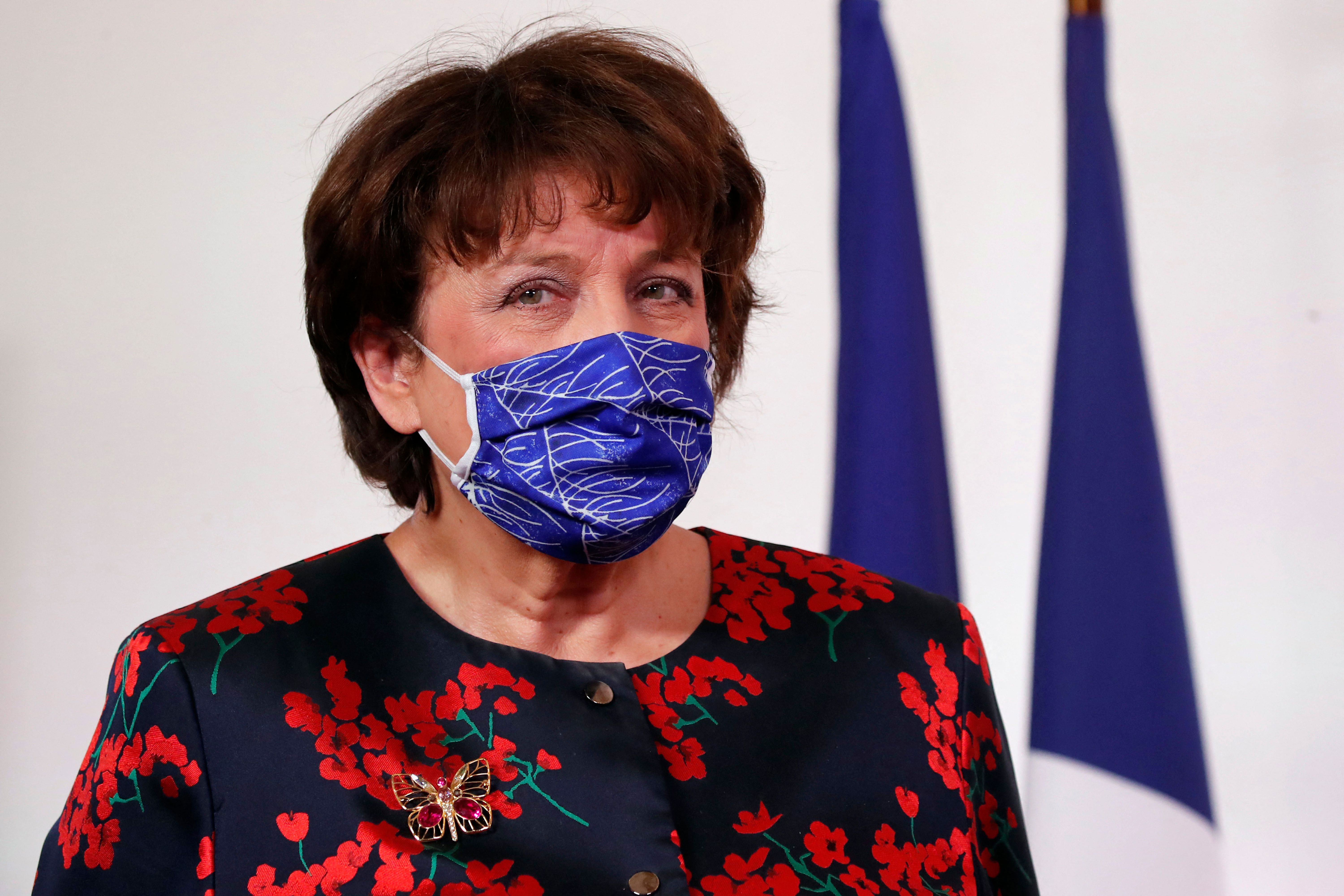 France's Culture Minister Roselyne Bachelot attends an event in Paris on February 11.