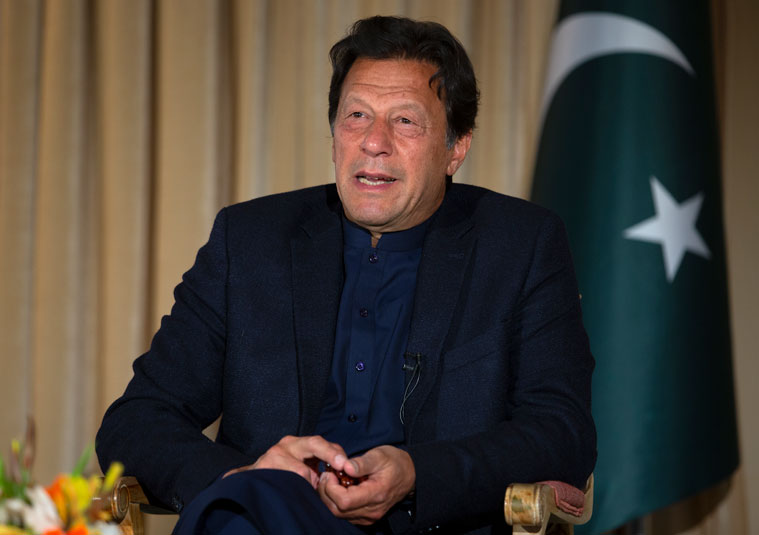 Pakistan's Prime Minister Imran Khan in Islamabad, Pakistan, Monday, March 16.