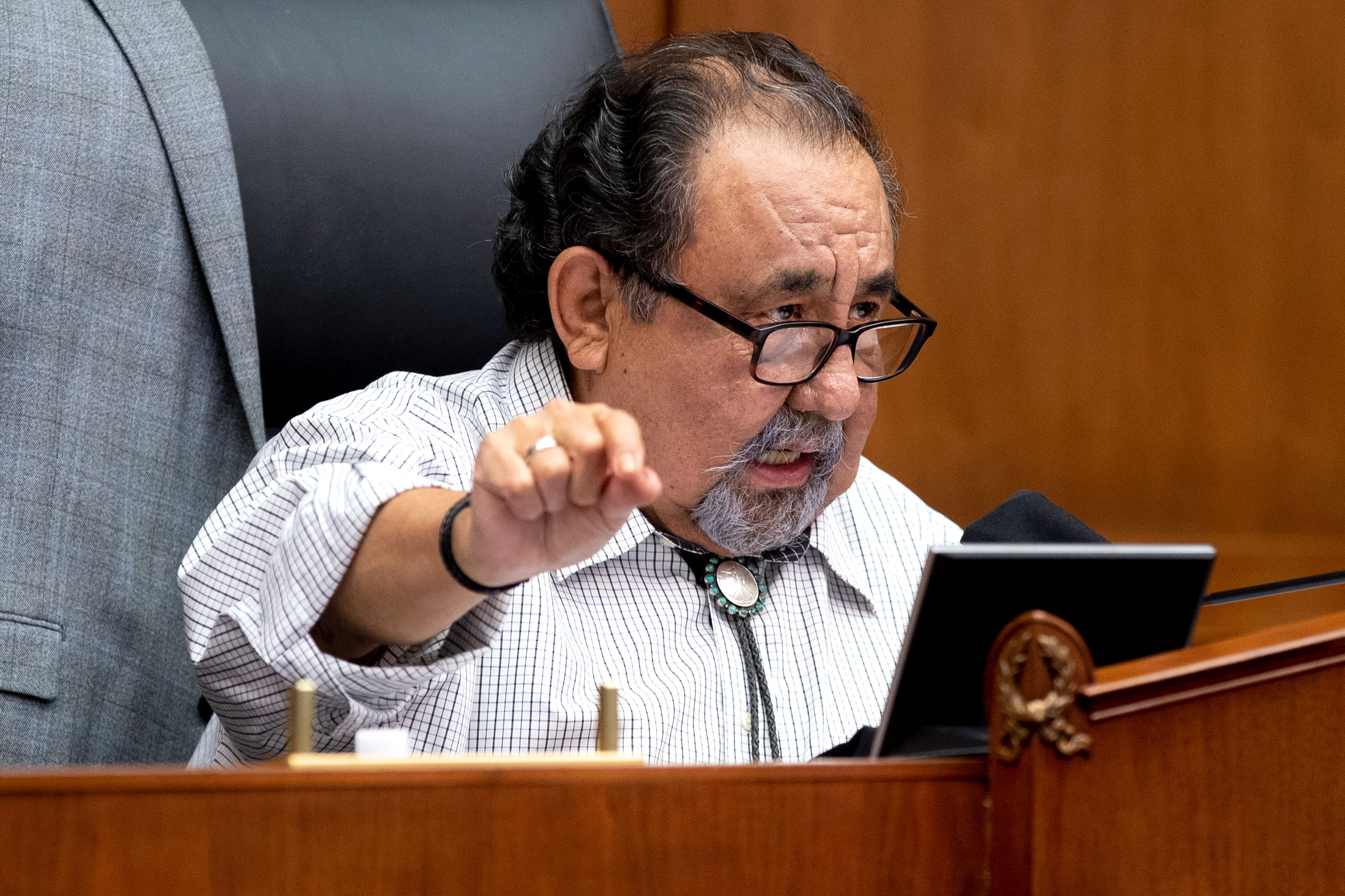 Arizona Rep. Raul Grijalva speaks during a House Natural Resources Committee hearing on June 29 in Washington, DC.