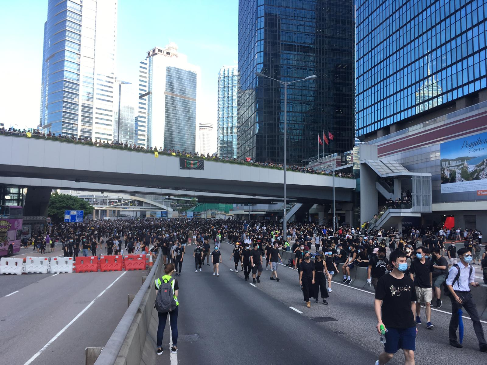 Protesters are gathering in Admiralty, on Hong Kong Island.
