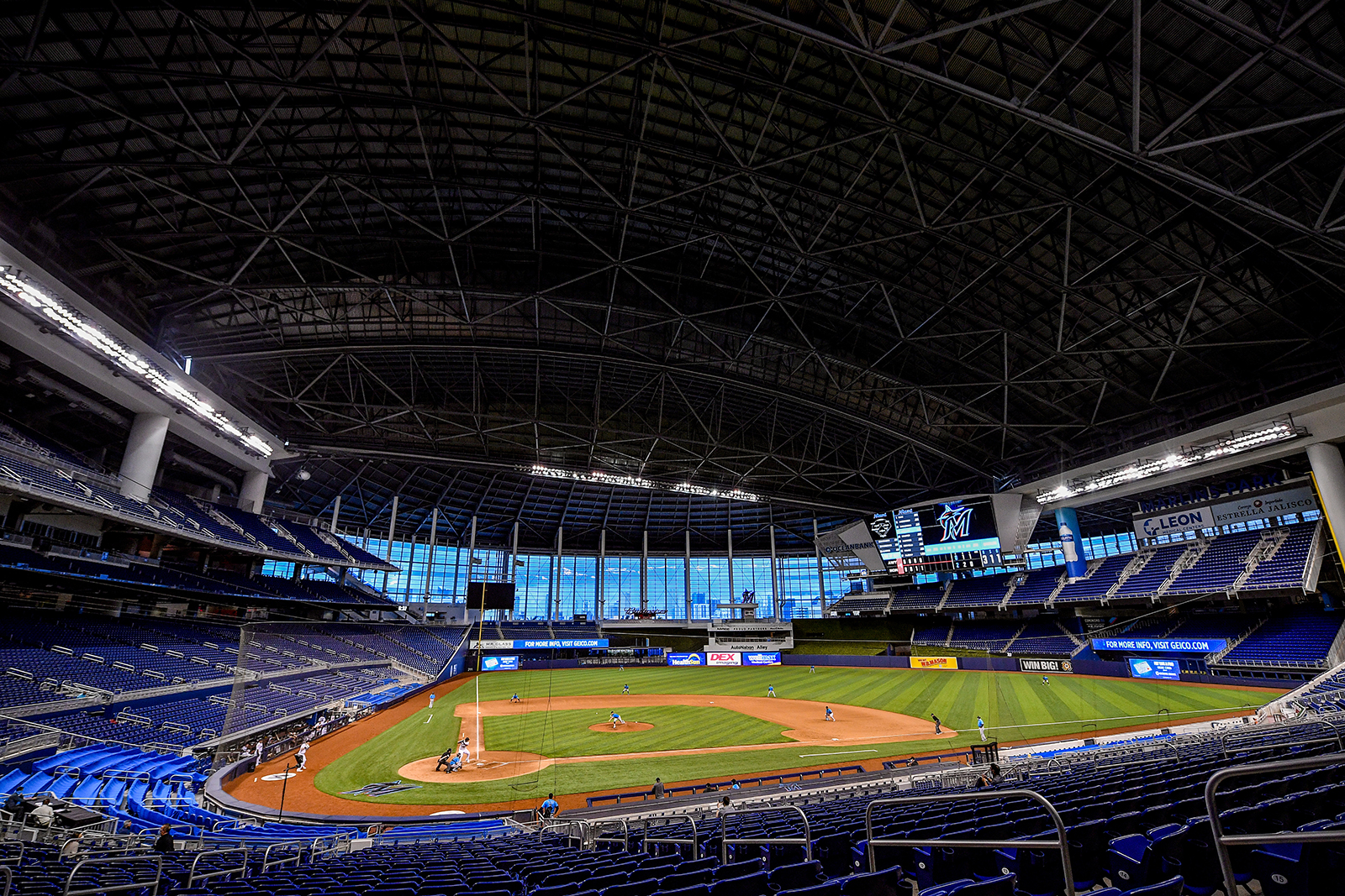 A general view of the field at Marlins Park on Friday, July 17, in Miami.