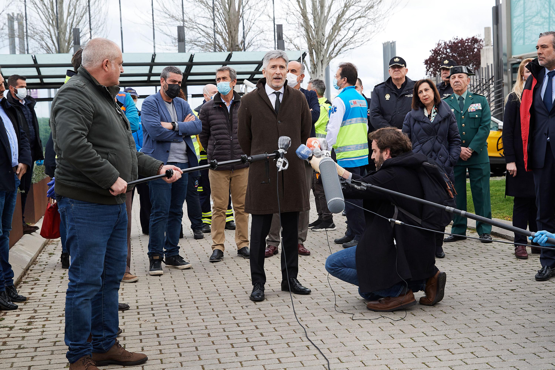 Minister of the Interior Fernando Grande-Marlaska speaks to the press on March 23.