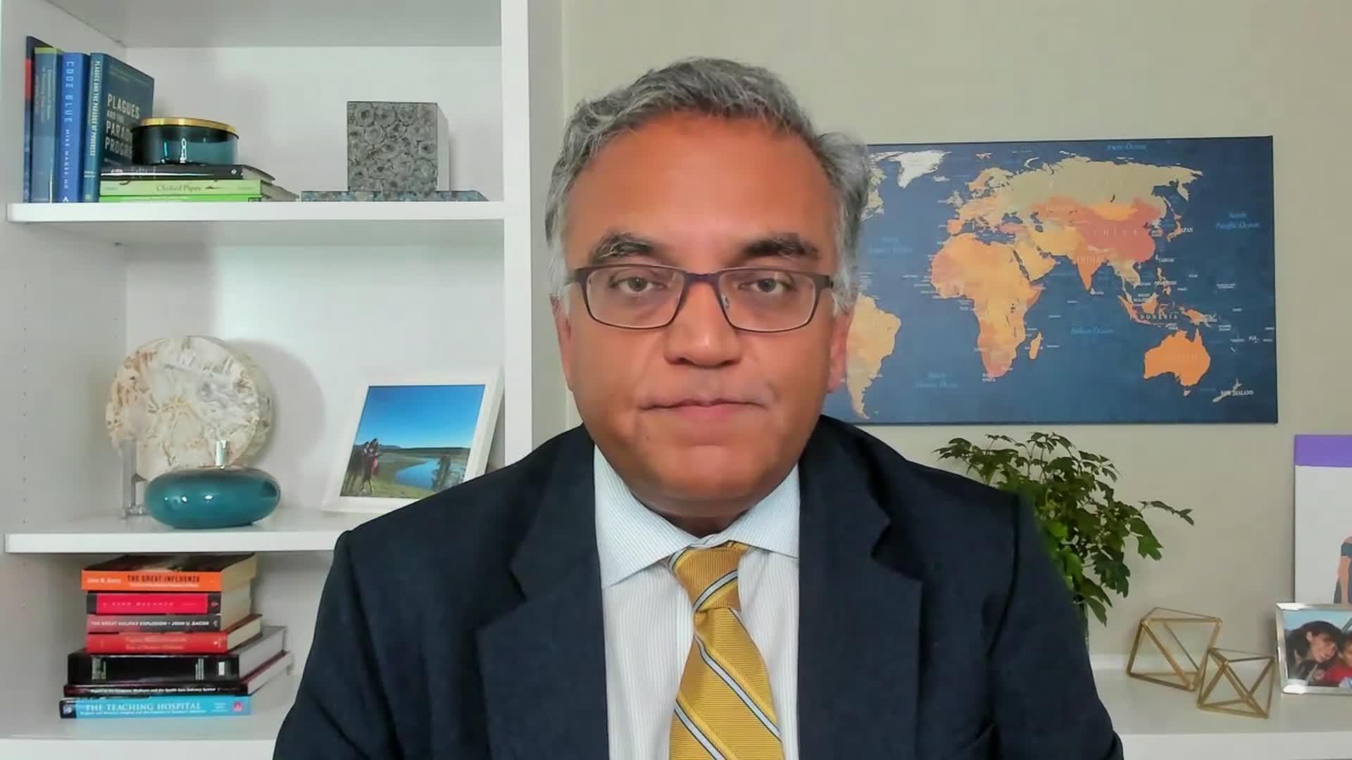 Dr. Ashish Jha, dean of the Brown University School of Public Health