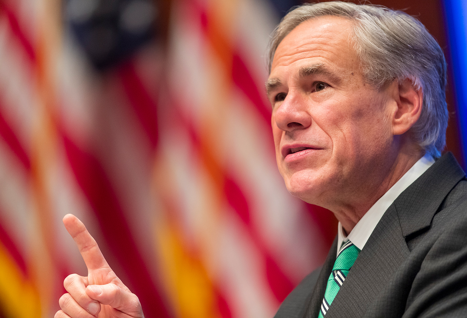 Texas Gov. Gregg Abbott speaks about reopening the state's economy in Austin, Texas on May 5.