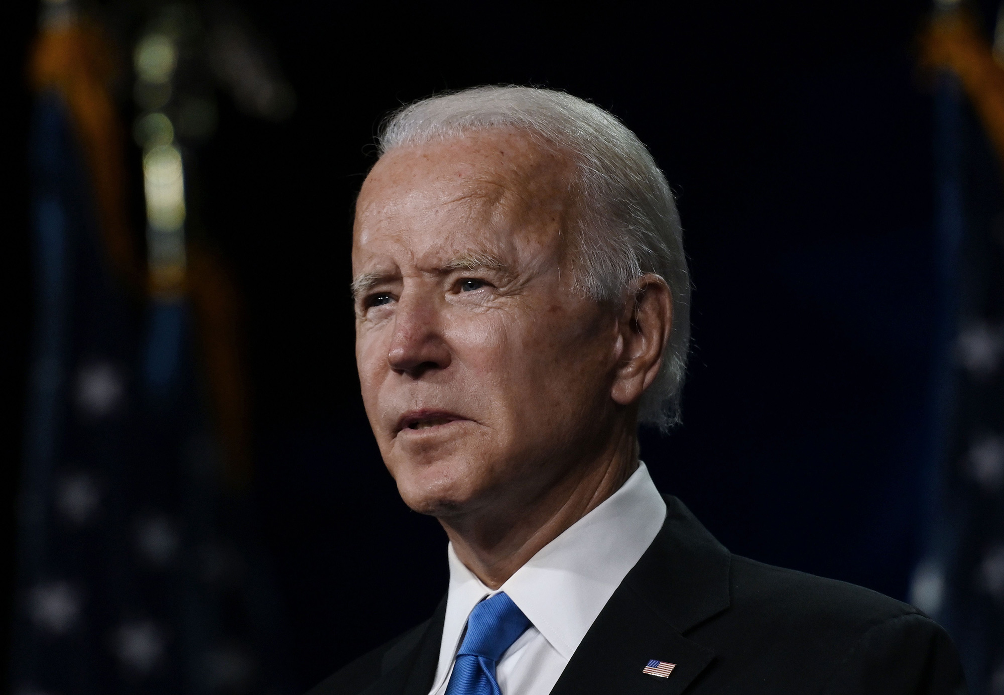 Former vice-president and Democratic presidential nominee Joe Biden speaks during the Democratic National Convention at the Chase Center in Wilmington, Delaware, on August 20.