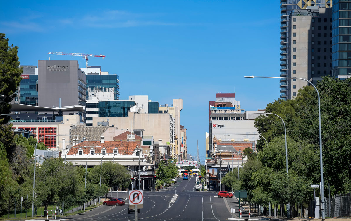 A general view of Rundle Street East on November 19 in Adelaide, Australia.