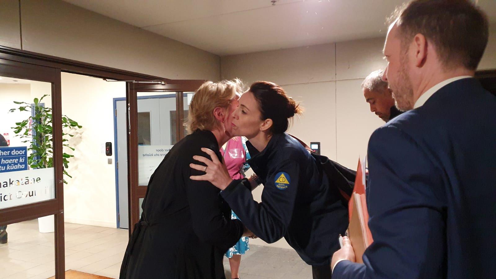 New Zealand Prime Minister Jacinda Ardern arriving in Whakatane, New Zealand.