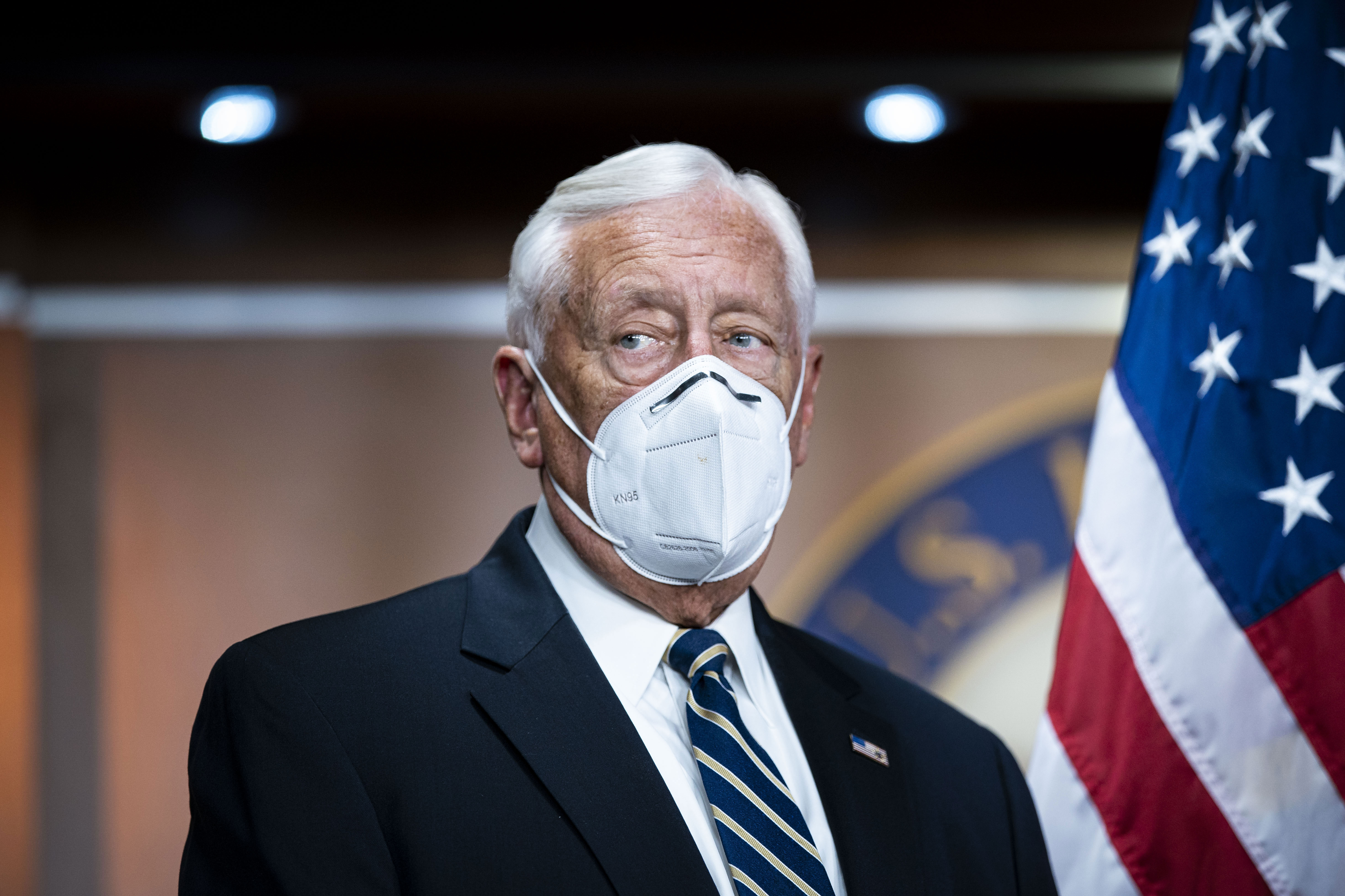 House Majority Leader Steny Hoyer attends a news conference in Washington, DC, on November 18.