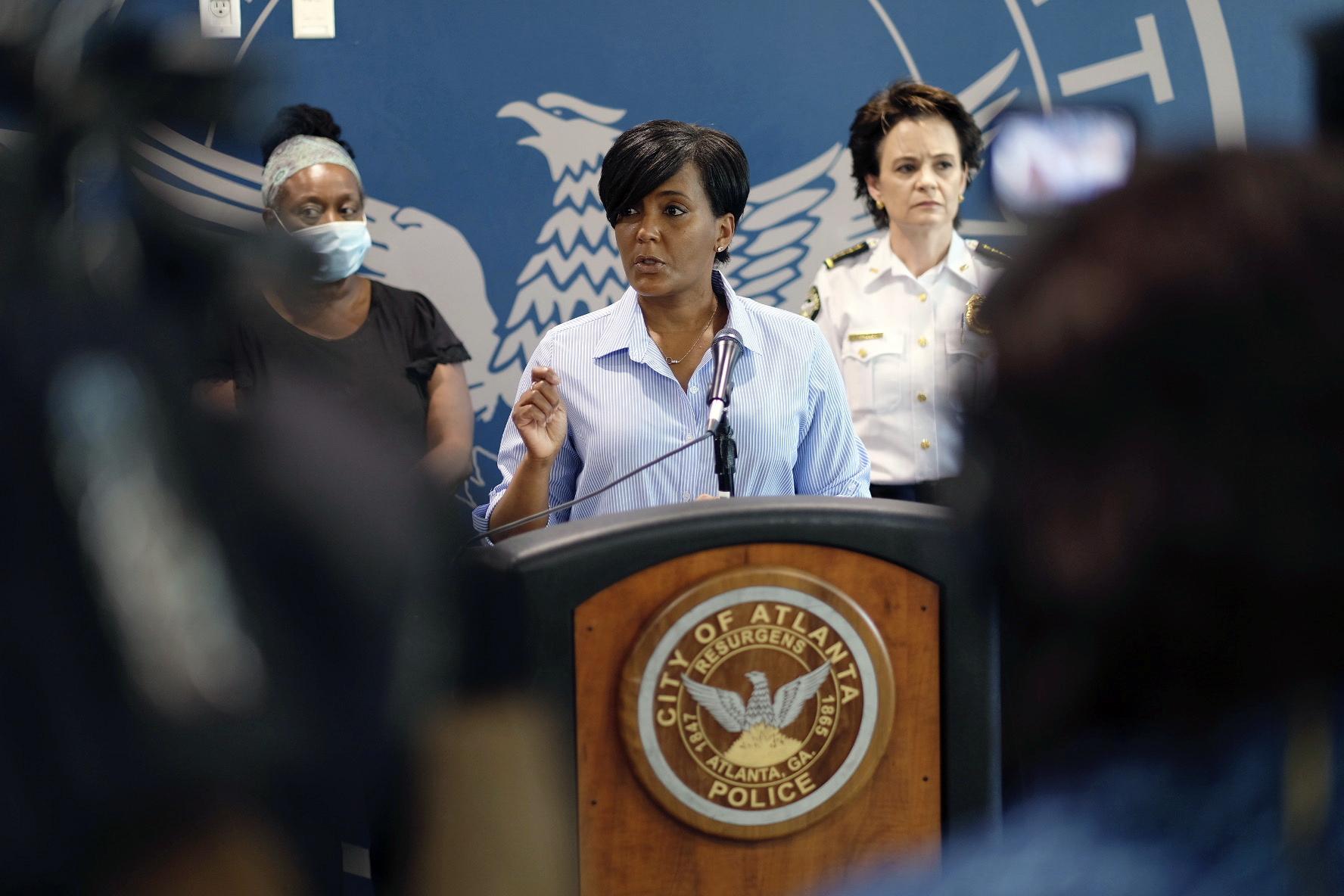 Atlanta Mayor Keisha Lance Bottoms speaks in Atlanta on May 30.