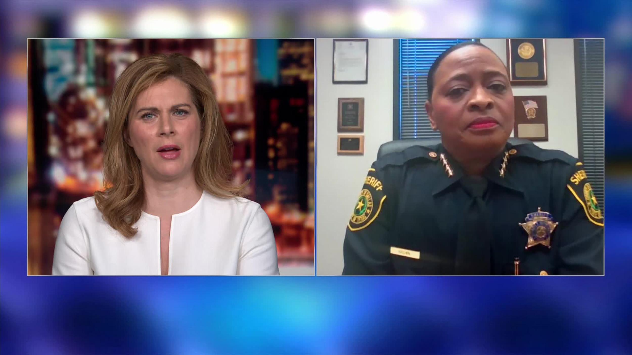CNN's Erin Burnett and Dallas County Sheriff Marian Brown