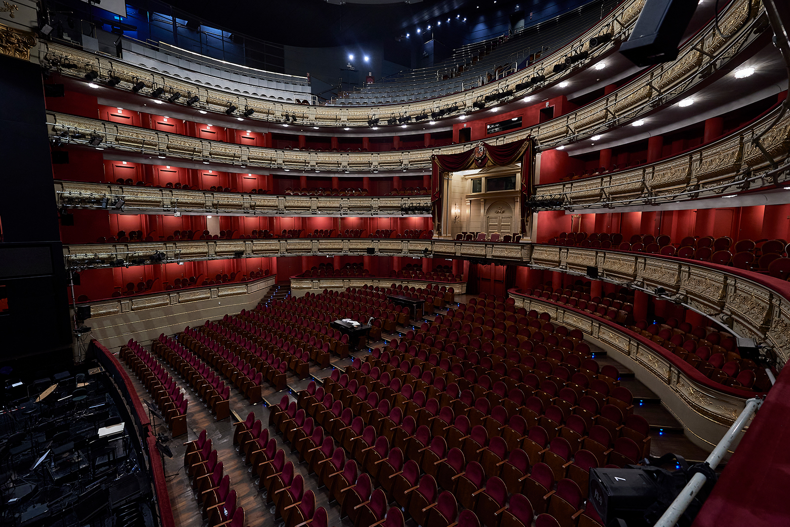 A general view of the Teatro Real, in Madrid, Spain, on March 13.