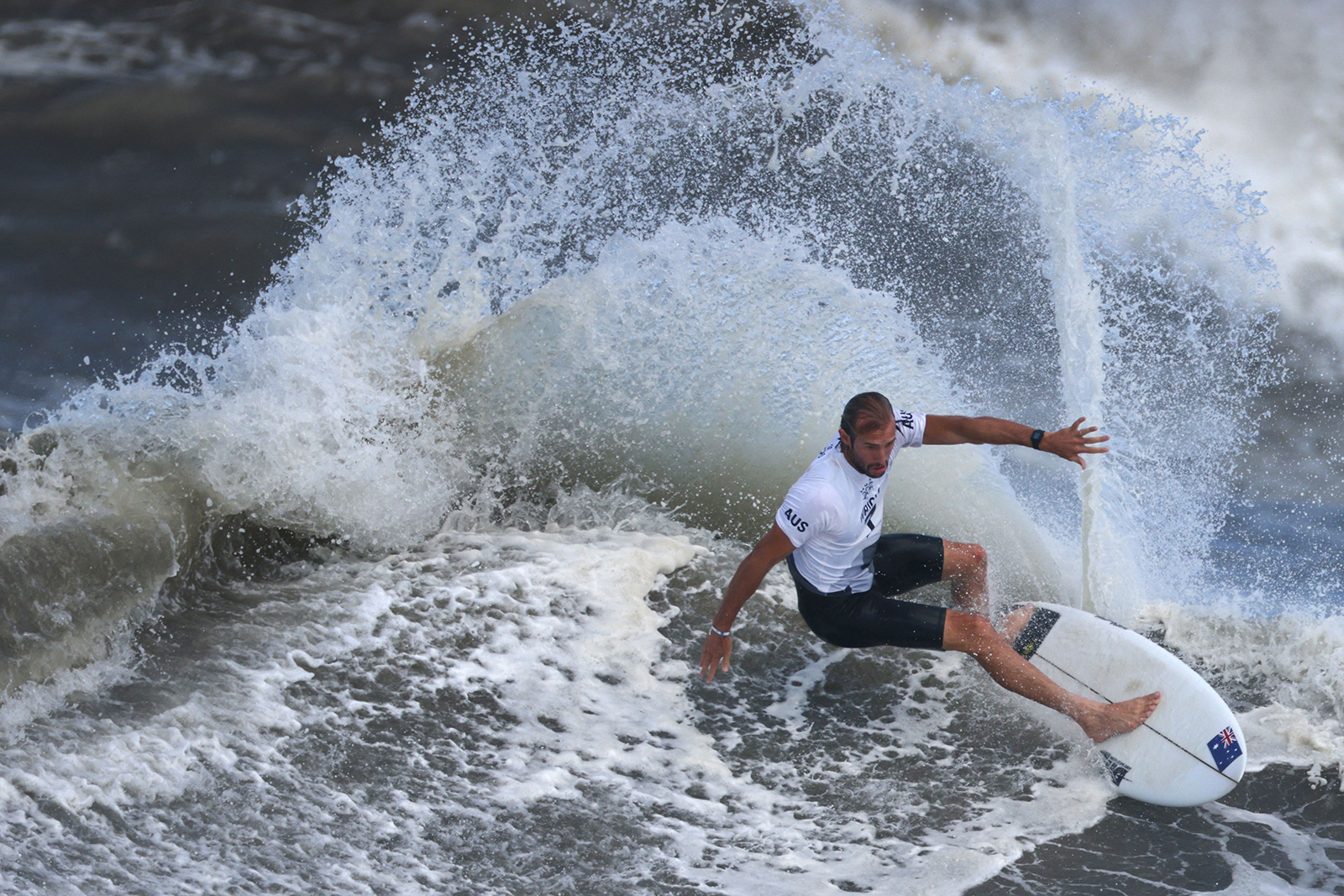 Australia's Owen Wright competes during the men's final on July 27.