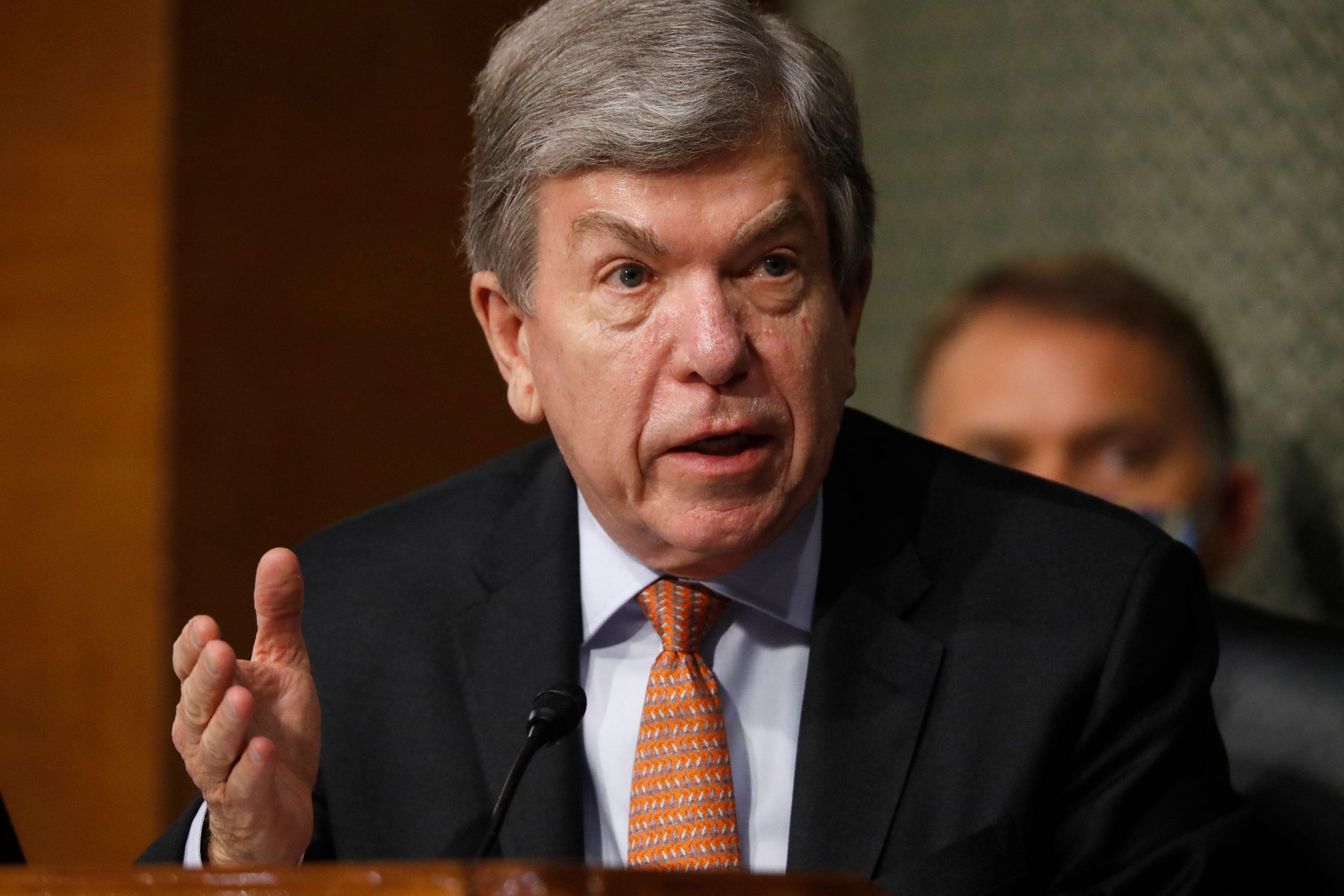 Sen. Roy Blunt, R-Mo., speaks during a Senate Intelligence Committee nomination hearing on Capitol Hill in Washington on May. 5.