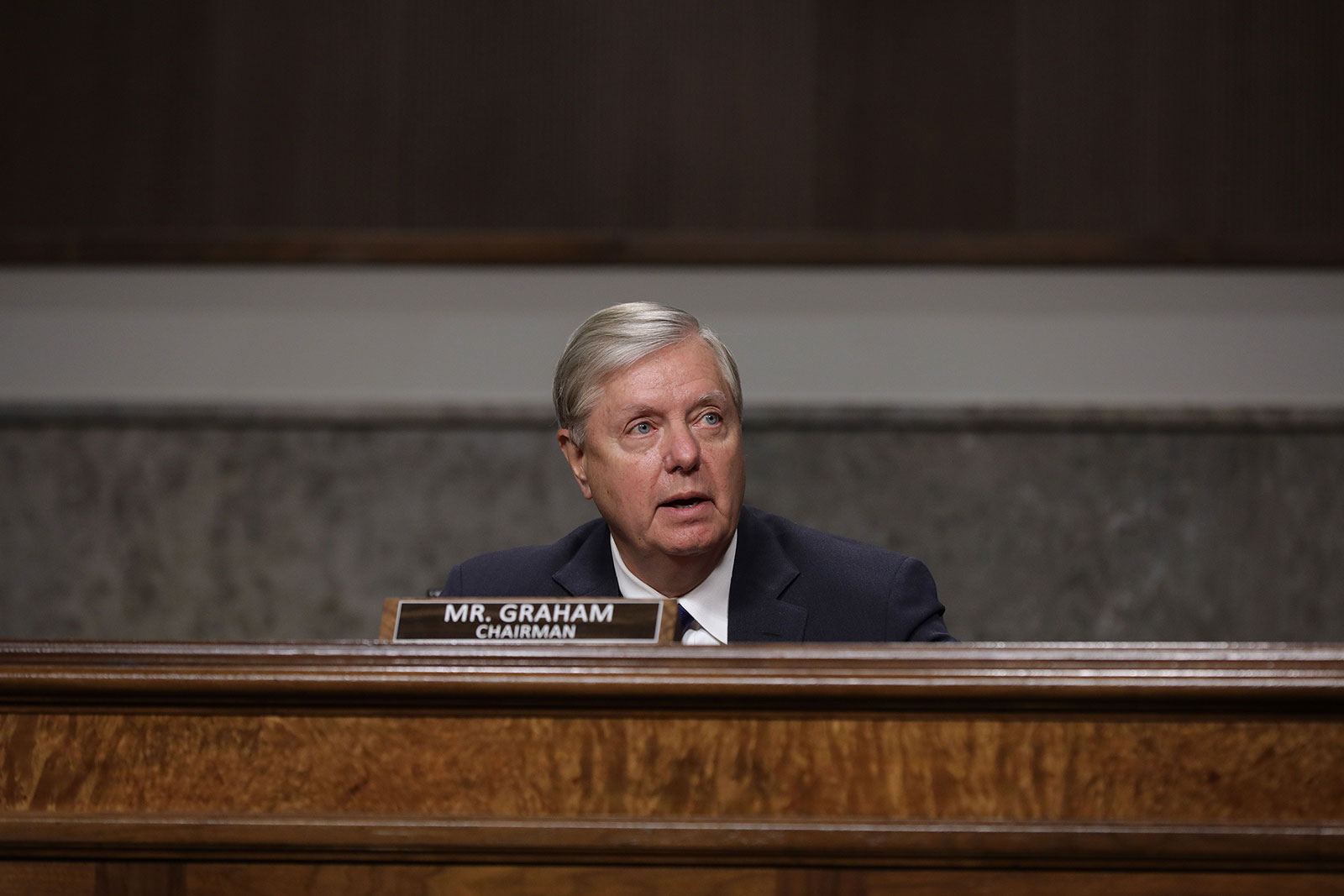 Sen. Lindsey Graham speaks during a Senate Judiciary Committee hearing on November 17.