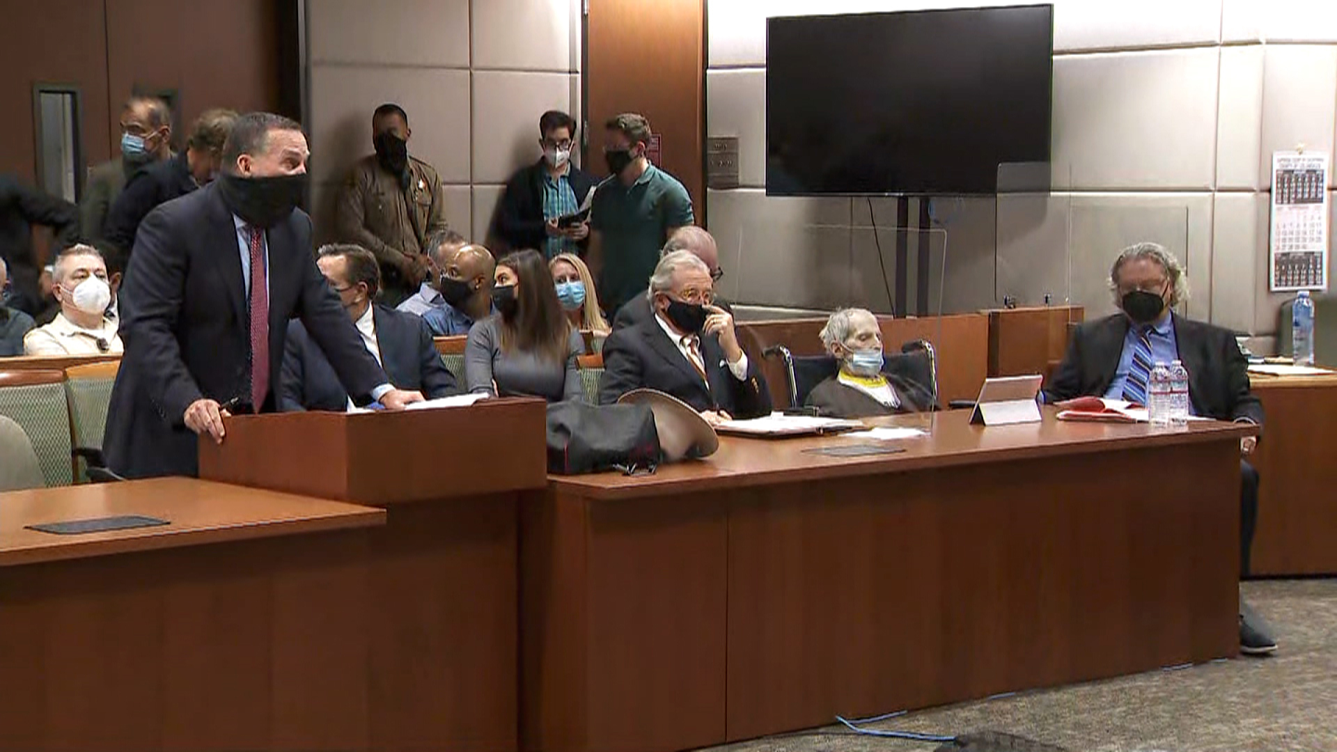 Robert Durst appears in court for his sentencing on Thursday, October 14.