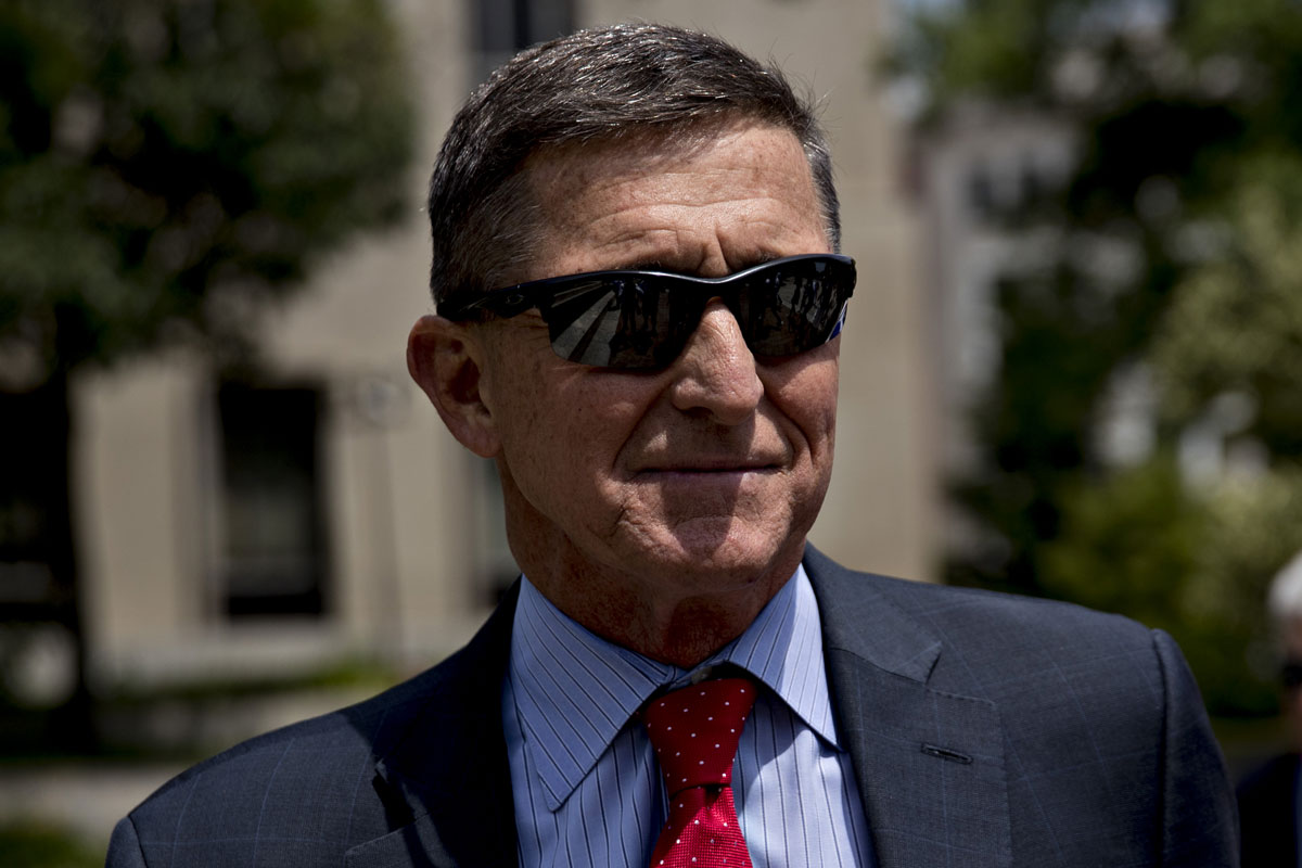 Michael Flynn exits federal court in Washington, DC, on Monday, June 24, 2019.