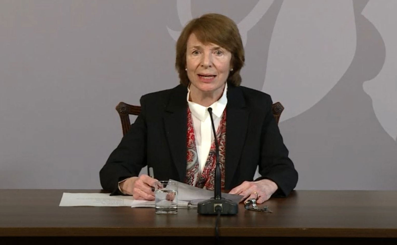 Dr. June Raine, MHRA chief executive, speaks at a press briefing in London on December 30.