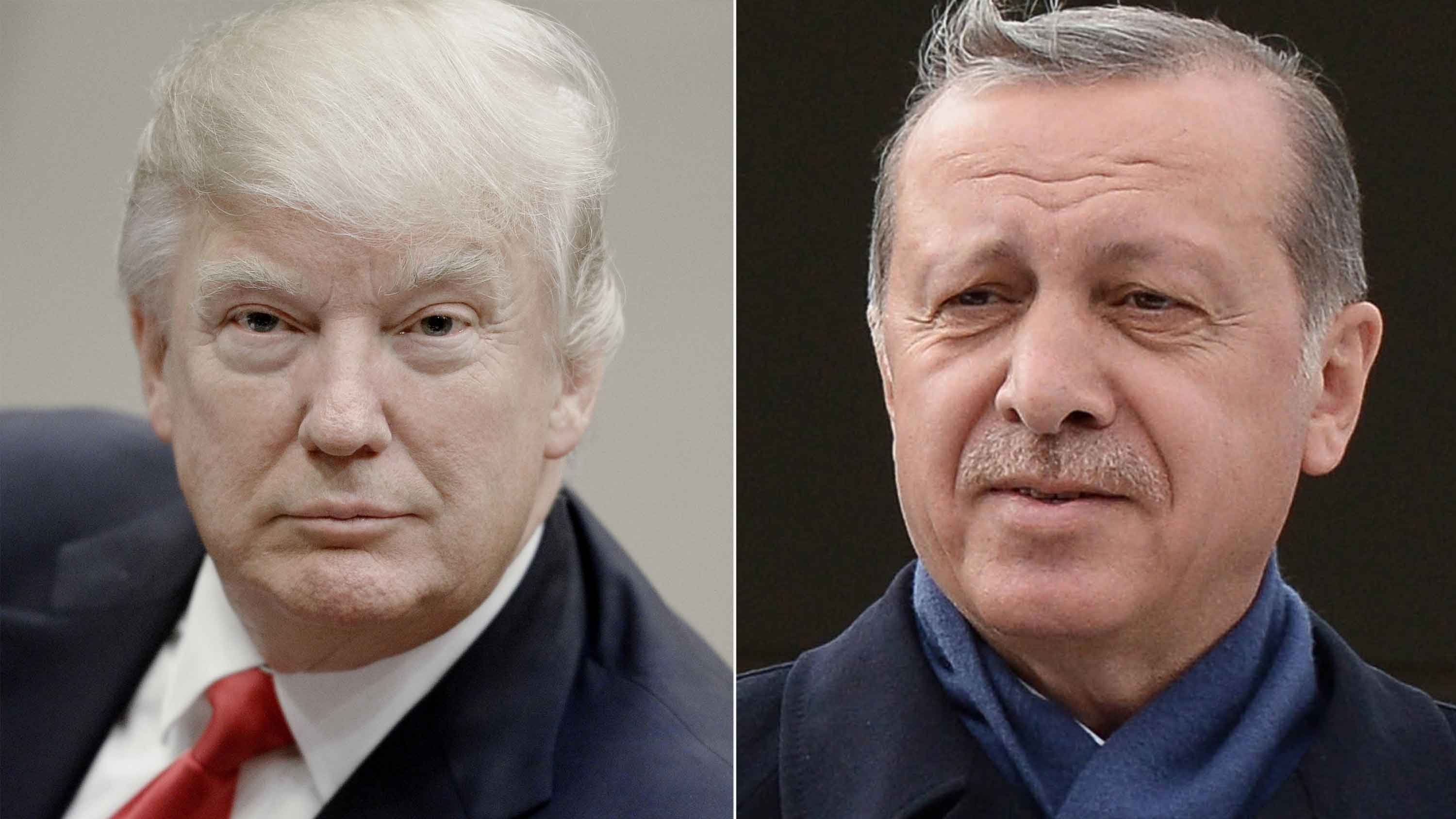 President Donald Trump and Turkish President Recep Tayyip Erdogan