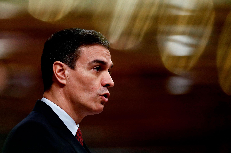 Spanish Prime Minister Pedro Sanchezspeaks on March 25.