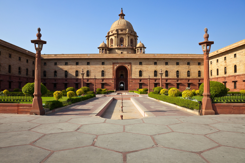 The Rashtrapati Bhavan in New Delhi, India.