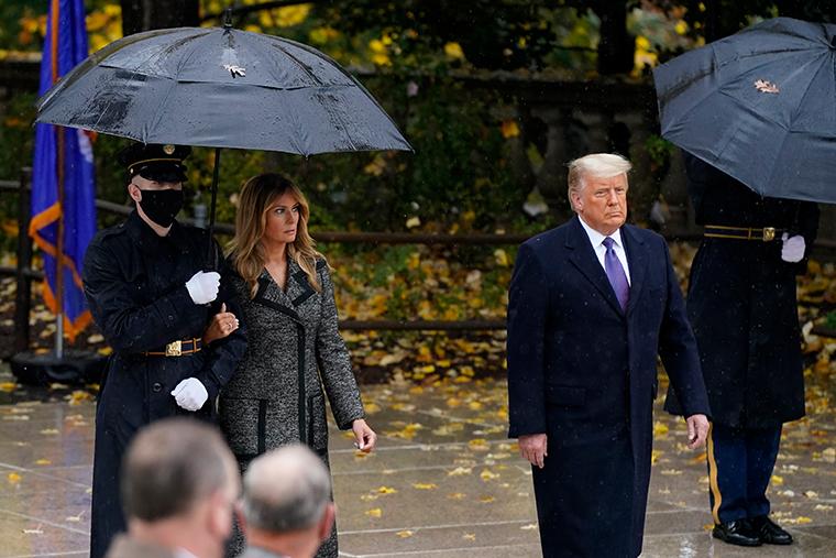 President Donald Trump at Arlington National Cemetery in Arlington, Va., Wednesday, Nov. 11, 2020.