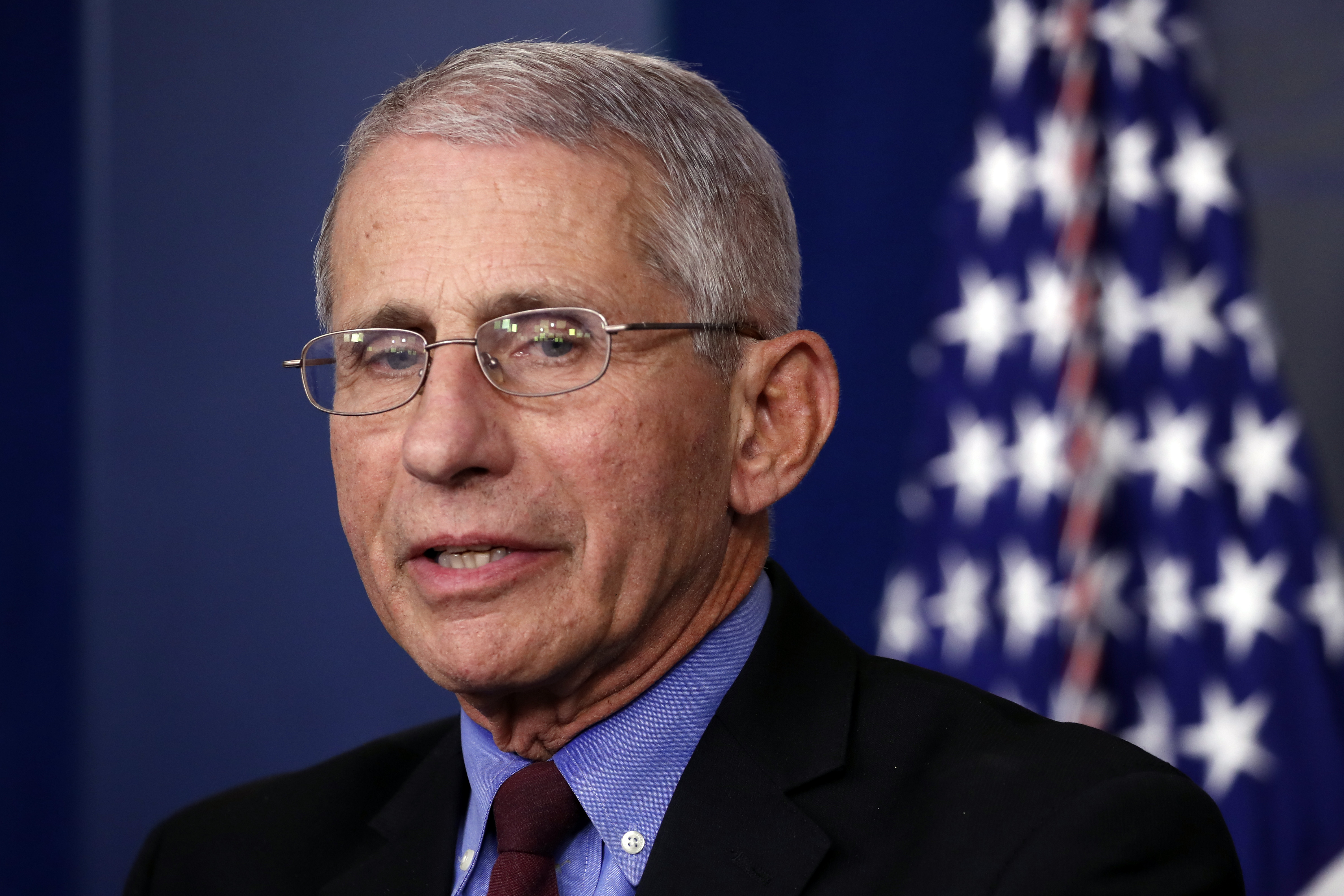 Dr. Anthony Fauci, the United States' top infectious disease expert, speaks about the coronavirus pandemic at the White House on Friday, March 27.