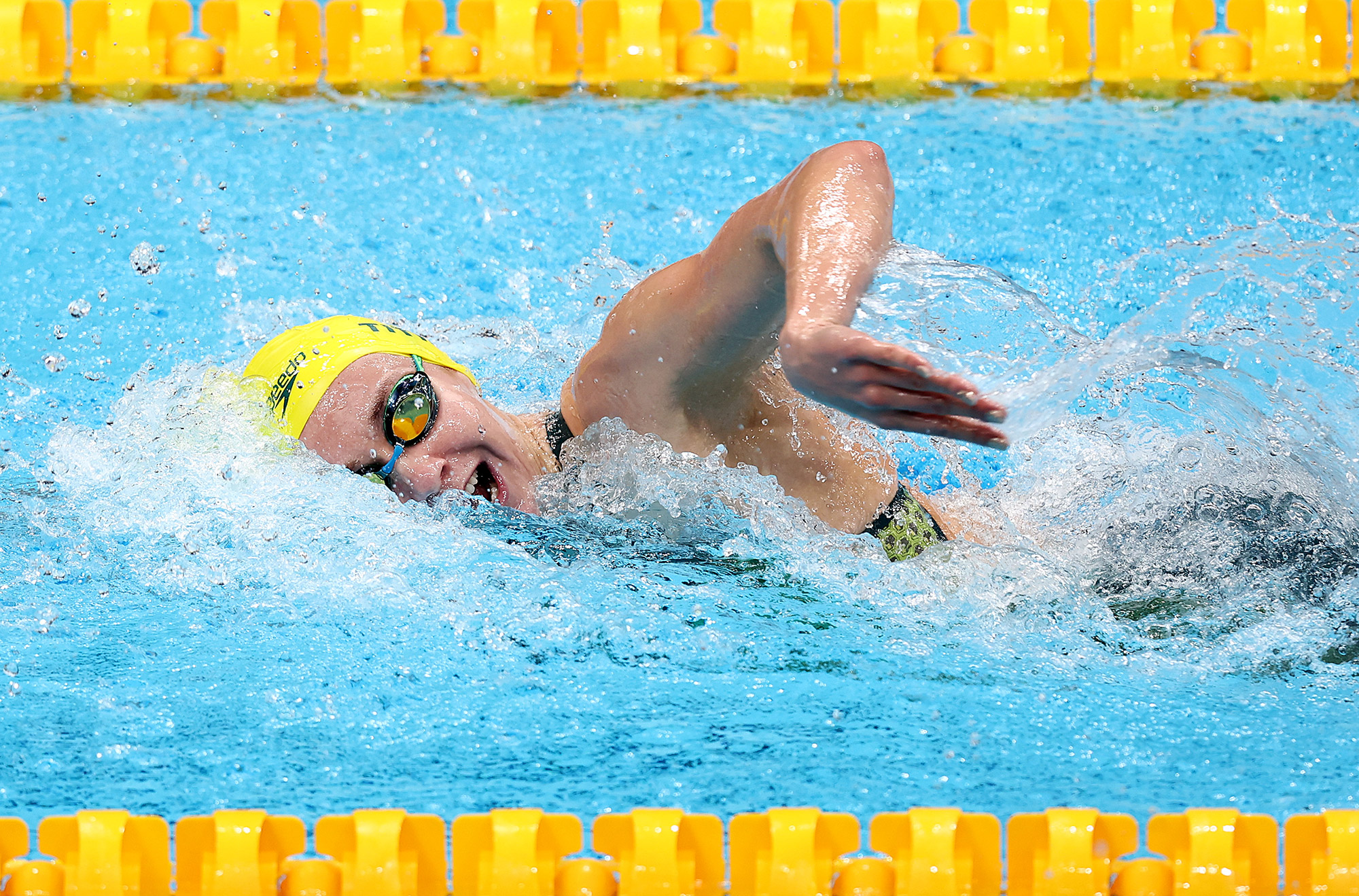 Ariarne Titmus of Team Australia competes in the 200m freestyle final on July 28.